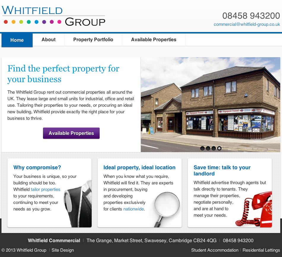 Whitfield Commercial home page