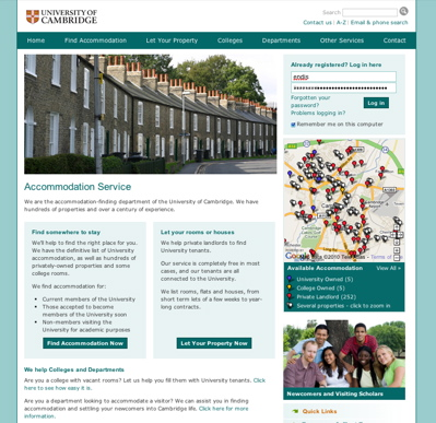 University of Cambridge Accommodation Service